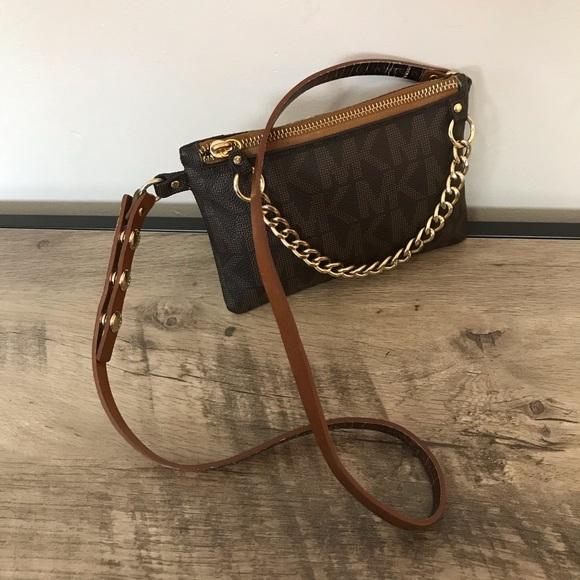 Michael Kors Handbags - MICHAEL KORS MK Monogram FANNY PACK Chain BAG